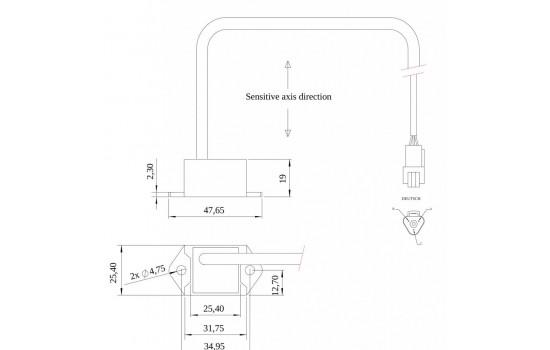 Sensore Accelerometrico Monoassiale con corpo in plastica