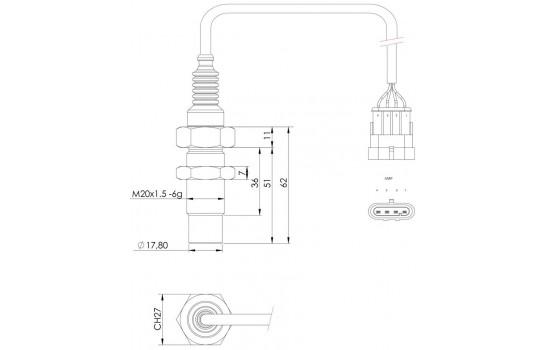 Sensore di Velocità ad effetto Hall con uscite pilotate dalla frequenza rilevata su ingranaggi
