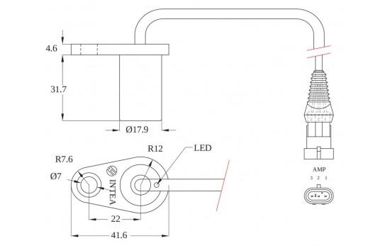 Sensore di Velocità ad effetto Hall con corpo in plastica flangiato per ingranaggi